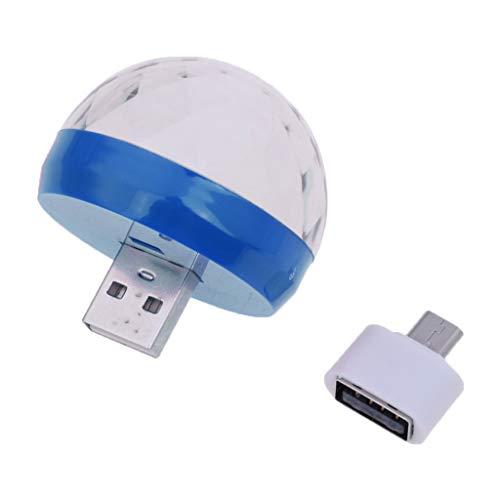 P Prettyia Mini USB Discolicht Projektor Beleuchtung für Party - Blau