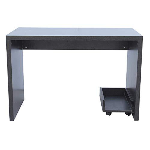 Mobili Rebecca® Bureau Informatique Table d'Ordinateur Moderne Bois Mdf Marron Wengè Chambre Bureau (Cod. RE6023)