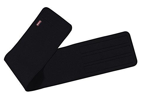 Nerve Cinturón de Soporte Lumbar para Moto Neopreno, Negro, XXXL