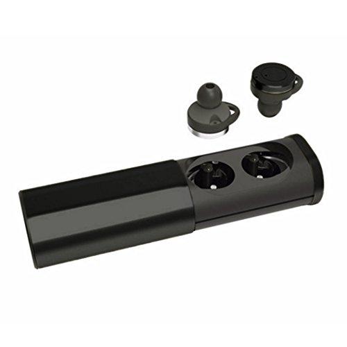 Preisvergleich Produktbild kingko® Zwillings Mini Kopfhörer Mini TWS drahtloser drahtloser Bluetooth Kopfhörer Qualitäts Ohrhörer Kopfhörer (Schwarz)