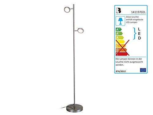 LED-Stehleuchte Livarno Lux Stehlampe Leselampe Höhe. 130-145 cm (Mit Runden Reflektoren)