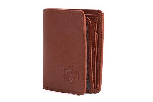 SYMPHONIE Westerwald Premium Herren Geldbeutel Geldbörse Brieftasche Portmonee Portemonnaie Echt Leder Vintage