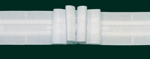 Ruther & Einenkel Faltenband mit 4 Falten, 26 mm, weiß, 300% / Aufmachung 10 m -