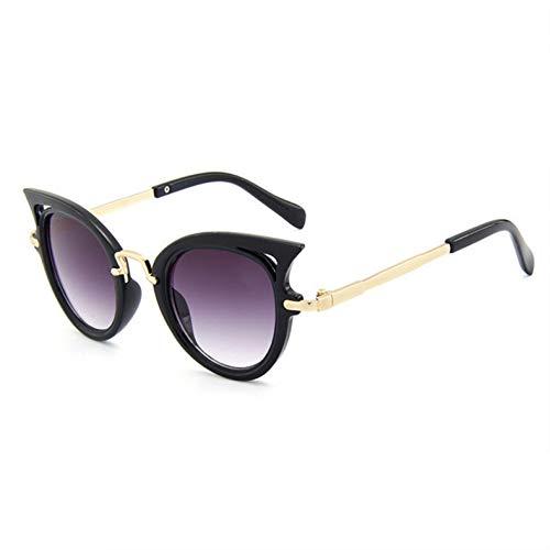 SYQA Sonnenbrille Jungen Mädchen Katzenauge Sonnenbrille Schatten Baby Niedliche UV400 Linse Klassische Sicherheit Cateyes Rahmen für Kinder,C1