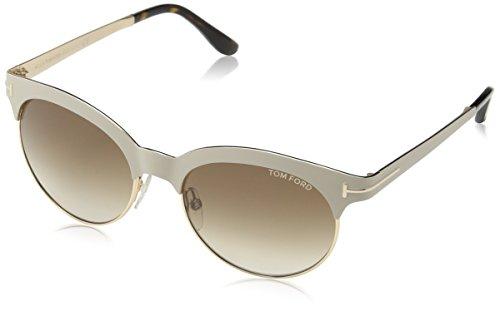 Tom Ford Damen FT0438 28F 53 Sonnenbrille, Gold (Oro Rosa Lucido/Marrone Grad),