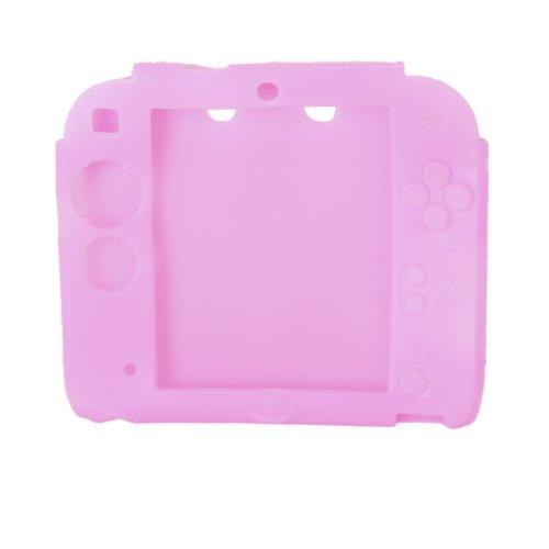 perfk Caso de Silicona de Cubierta de Caja de Juegos de Videoconsola Protectora para Nintendo 2DS - Rosa