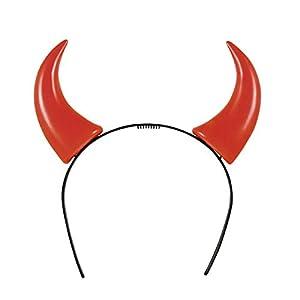 Boland Tiara Diadema cuernos diavoletta, rojo Unica Taglia rojo