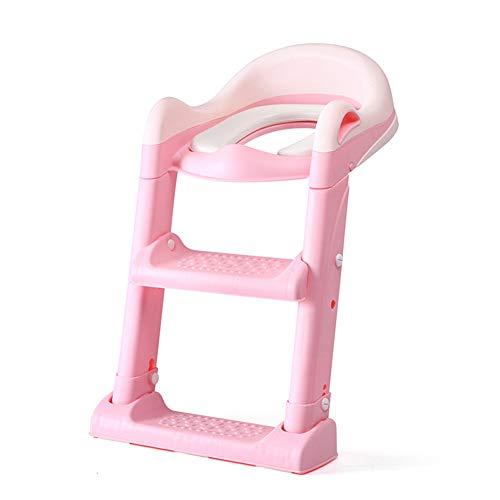 Qxheli scaletta bagno toilette vasino con scaletta per toilette bambino (rosa)