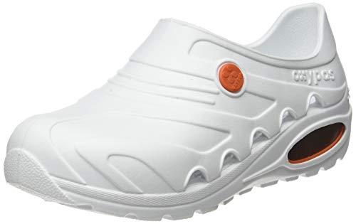Oxypas 'OXYVA' Ligero, Lavable, Antideslizante, antiestático, Zuecos de enfermería/Zuecos de Teatro, con absorción de Impactos by Safety Jogger Professional (35-36 EU) White