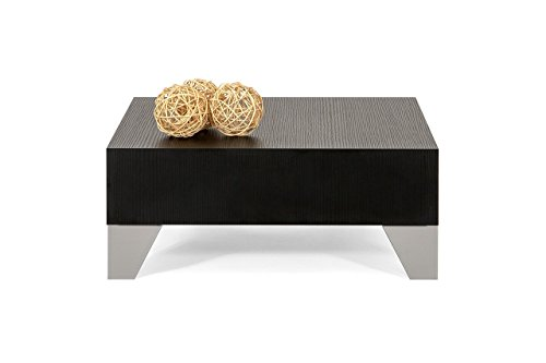 Mobili Fiver MOBILIFIVER Evo 60 Table Basse en Bois, pin Noir, 60,0 x 60,0 x 24,0 cm
