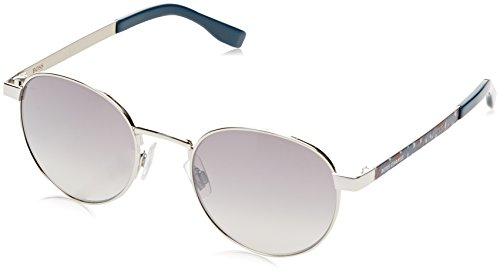 Boss orange bo 0269/s ic iem, occhiali da sole unisex-adulto, blu (pd antqbluegd/grey mesh slv), 52