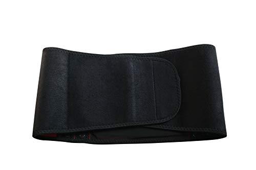 Fascia Elastica Lombare, Fascia Lombare Posturale, Il Sostegno del Supporto Lombare con 4 Stecche Flessibile, Misura Unica Regolabile con Velcro, Per sport o lavoro - nero