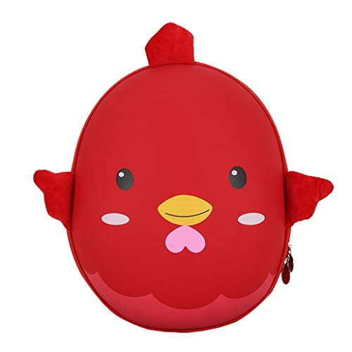 Dorical Kindergarten Schultasche für Kinder Kleinkinder Süß Cartoon 3D Küken Hartschalen Studenten Rucksack Tagesrucksack,Schulranzen Outdoor Reisetasche - für Junge und Mädchen 2-5 Jahre(Rot)