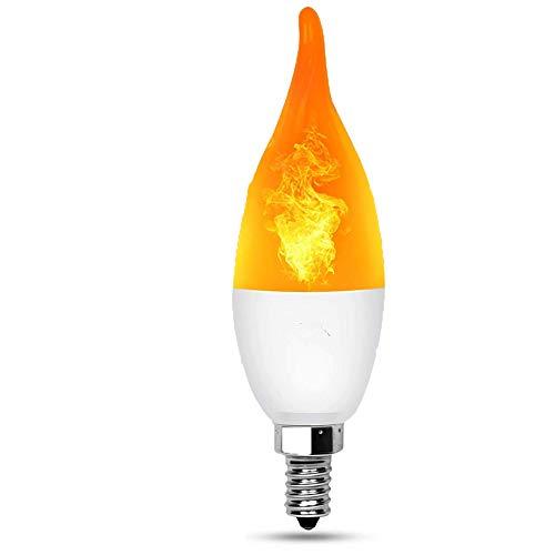 ROOKLY Flamme LED Birnen E12 / E27 / 1500Lumens / 100K Wahres Feuer Lichter/Dekorative Lampe Für Weihnachten/Halloween / Feste/Party,1Pack,E12