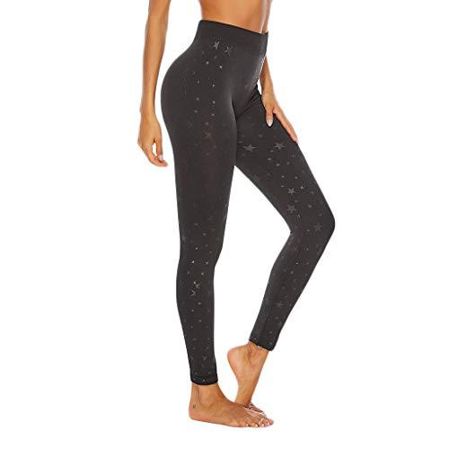 AIni Yoga Hosen Damen,Mode 2019 Neuer Sale Beiläufiges Gedruckte, Enge, Nahtlose Fitness-Lauf-Yogahose Trainingshose Sport Fitness Hosen Yoga Leggings (M,Schwarz)