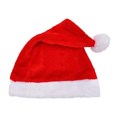 Urlaub Kostüm Mottoparty - Tianzhiyi Weihnachtsdekoration Plüsch-Weihnachtsmann-Hut-Frohe Weihnacht-Hut für Weihnachtsfest-Kostüm