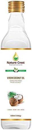 Nature Crest 100% Cold Pressed Virgin Coconut Oil - 500 ml