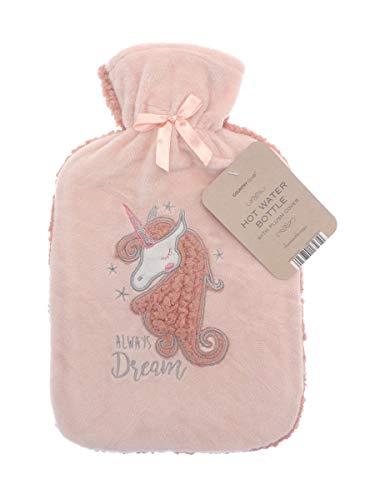 Luxus-Wärmflasche, Fleece, mit bestem Plüsch-Kunstfellbezug, 2 l, 2 Liter preisvergleich