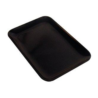 teckig tray-high glänzendem Melamin, schwarz, 20cm x 29cm ()