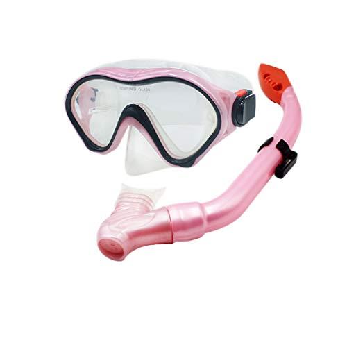 Uzinb BOIHON Schwimmflossen Schnorcheln Anti-Fog-Schutzbrille Mask Schnorchel-Set für Kinder Schwimmen Tauchen Flippers Glasses