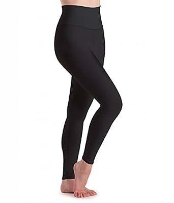 Vbirds Women's Cotton Lycra Stretchable High Waist Compression Yoga Tummytuck Legging/Jegging(Black, 28)