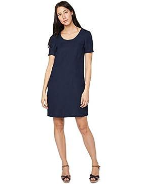 TOM TAILOR Damen Kleid Casual Linen Dress Kurzarm