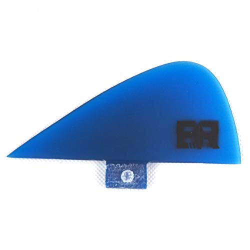 Eisbach Riders River Surfing Surfboard FCS Trailer Finne - Knubster Center Keel Fin (small - 1.8\'\') (Blau)
