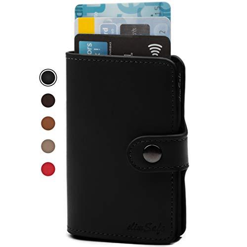 slimSafe Kartenetui | Kreditkartenetui mit Geldklammer | Kreditkarten Etuis für Damen und Herren | Mini Geldbörse | Slim-Wallet mit RFID-Blocker