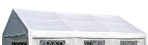 DEGAMO Dachplane/Zeltdach/Ersatzdach 4x6 PVC Weiss