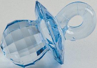 Club Green Acryl Schnuller, blau, 4,5cm, 6pro Pack (Dummies Für Acryl)