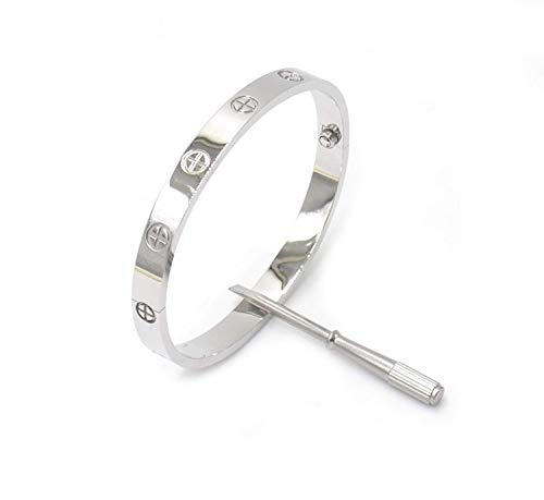 Love Bracelet-Only I Can Unlock Your Heart With Silver usato  Spedito ovunque in Italia