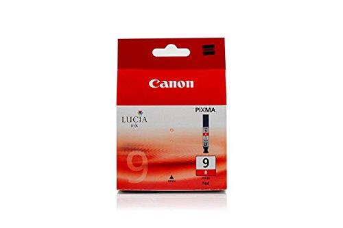 Original Canon 1040B001 / PGI-9R Tinte (Rot, ca. 1.600 Seiten) für Pixma Pro 9500 (Pixma Pro Tinte 9500 Canon)
