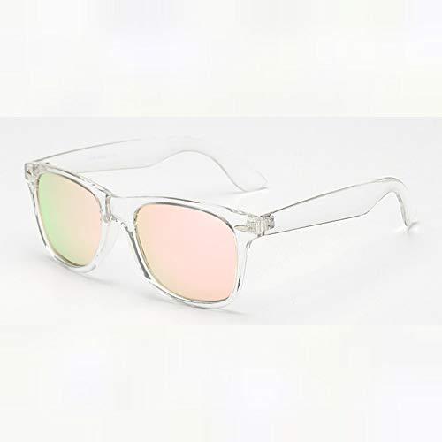 Gafas De Sol.Polaroid Gafas De Sol Unisex Square Vintage Gafas De Sol Gafas De Sol Polarizadas para Mujer Hombre Exterior De Verano Viajes Polvo Uv400 Rosa Marco Transparente