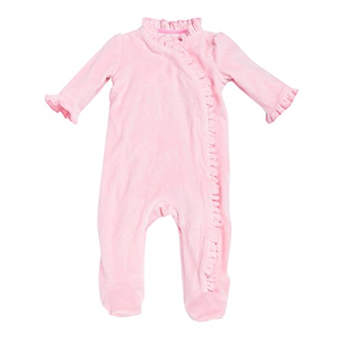 Zhhlinyuan Baby Girls Cozy Footies Overall Soft Romper Infant Long sleeves Cotton Bodysuits Pink Cotton Soft Overalls