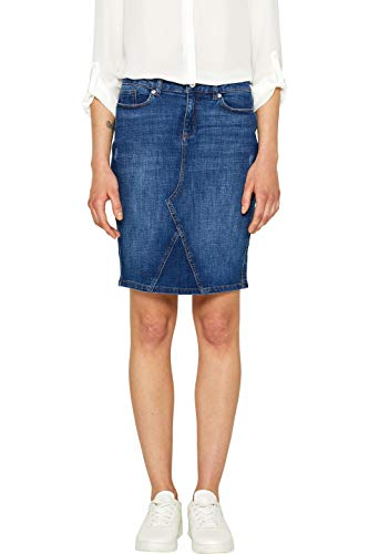 Esprit 049ee1d013 gonna, blu (blue medium wash 902), 44 (taglia produttore: 38) donna