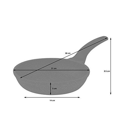 ProCook Granite - Set de poêles antiadhésives Effet Pierre compatibles Tous Feux Dont Induction 3 pièces