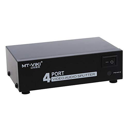 4-Port 1-In 4-Out RCA AV Audio Video TV Box HDTV DVD Splitter Schalter Composite, andere Composite-audio-splitter