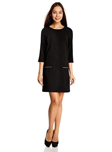 oodji-ultra-femme-robe-coupe-ample-avec-zips-decoratifs-noir-fr-38-s