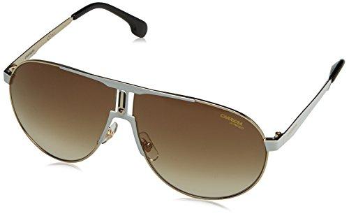 Carrera Unisex-Erwachsene 1005/S HA B4E Sonnenbrille, Weiß (WHITE GOLD/BRWN SF), 66