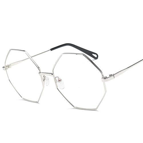 SNXIHES Sonnenbrillen Hexagon Brillengestell Retro Runder Brillengestell Vintage Brille Optische Computerbrille Unisex No Degrees 3