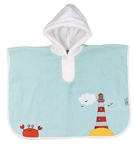 Schlummersack kuschelig weicher Badeponcho mit Kapuze - Leuchtturm- für Jungs von 1-3 Jahre