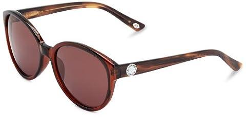 Lulu Guinness Damen L523 Rund Sonnenbrille, Brown