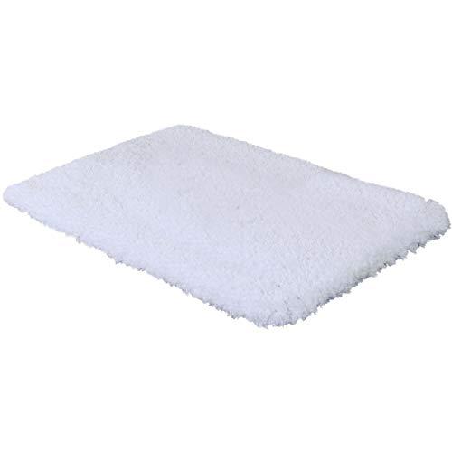 Norcho tappeto morbido microfibra antiscivolo di gomma antibatterici tappeto lusso 50x80cm bianco