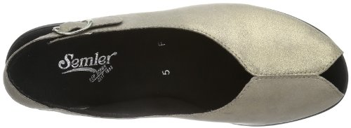 Semler Nora Damen Knöchelriemchen Sandalen mit Keilabsatz Beige (005 asphalt)