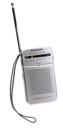 Panasonic RF-P50 Pocket AM/FM Radio, Silver (Discontinued by Manufacturer)
