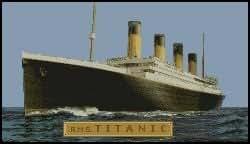 Titanic Kit de broderie au point de croix compté Motif complet 45,2x 25,4cm