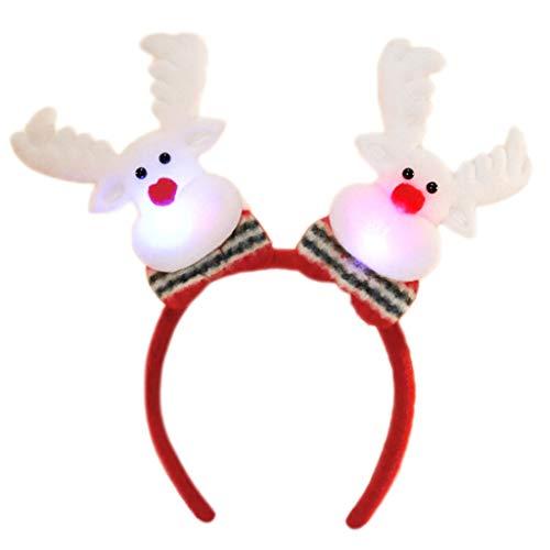 1 Stück Erwachsene Kinder Weihnachten Spirale Frühling Weihnachtsmann Schneemann Haarband LED-Licht Plüsch Pailletten Stirnband Party Ornament Headwear Liefert - Pailletten-licht