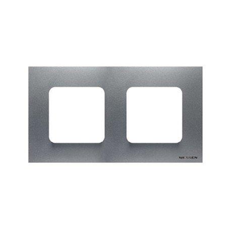 Niessen - n2272pl marco estandar 2 ventanas zenit plata Ref. 6522015252