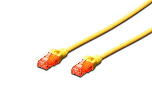 Digitus CAT6 U/UTP 0.5m câble de réseau 0,5 m U/UTP (UTP) Jaune - Câbles de réseau (0,5 m, Cat6, U/UTP (UTP), RJ-45, RJ-45, Jaune) par  Digitus