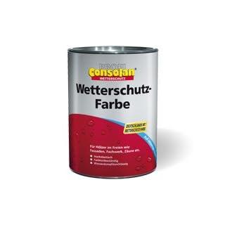 Consolan Wetterschutzfarbe 2,5 Liter, braun Nr. 208